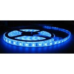 12V Blå stænktæt LED strip - 5m, 30 LED pr. meter