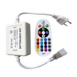 Tilbehør RGB kontroller med fjernbetjening - Inkl. endeprop, 230V, memory funktion, Radiostyret