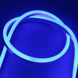 230V Neon Flex Blå 8x16 Neon Flex LED - 8W pr. meter, IP67, 230V