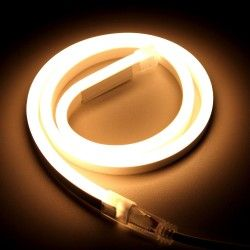 230V Neon Flex Varm hvid 8x16 Neon Flex LED - 8W pr. meter, IP67, 230V