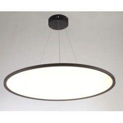 LED pendel LEDlife 40W LED rundt panel - 100 lm/W, Ø60, sort, inkl. wireophæng