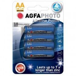 Elmateriel AA 4-pak AgfaPhoto batteri - Alkaline, 1,5V