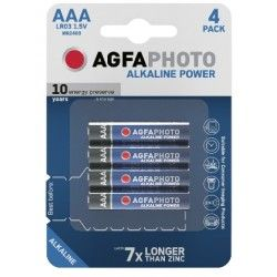 Elmateriel AAA 4-pak AgfaPhoto batteri - Alkaline, 1,5V