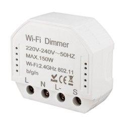 Elmateriel WifiDimmer150 - 150W LED dæmper, kip-tryk/push dæmp, korrespondance, til indbygning