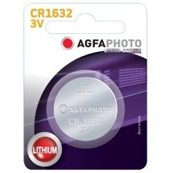 Batterier CR1632 1 stk AgfaPhoto knapcellebatteri - Lithium, 3V