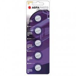 Elmateriel CR1620 5-pak AgfaPhoto knapcellebatteri - Lithium, 3V