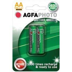 Elmateriel 2 stk AgfaPhoto genopladeligt batteri - AA, 1,5V