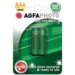 Elmateriel 2 stk AgfaPhoto genopladeligt batteri - AAA, 1,5V