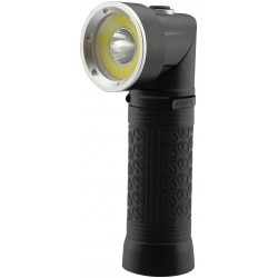 LED lygter LED lommelygte 90° roterbar - 5W, magnet i bunden, 3xAAA, sort