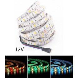 12V RGB+WW 12W/m RGB+WW LED strip - 5m, IP65, 60 LED pr. meter, 12V