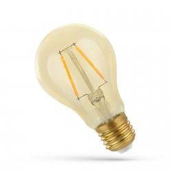 E27 almindelige LED 2W LED pære - Kultråd, rav farvet glas, ekstra varm, E27