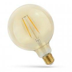 E27 LED 2W LED globepære - Kultråd, rav farvet glas, ekstra varm, E27