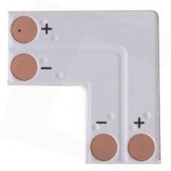 12V L-mellemled til enkelt farvet LED strips - Til 3528 strips (8mm bred), 12V / 24V