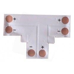 12V T-mellemled til enkelt farvet LED strips - Til 3528 strips (8mm bred), 12V / 24V