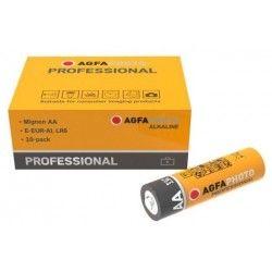 Elmateriel AA 10-pak AgfaPhoto Professional batteri - Alkaline, 1,5V