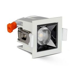 LED Paneler V-Tac 4W LED downlight - Hul: 4,5x4,5 cm, Mål: 5,5x5,5 cm, UGR19, RA90, Samsung LED chip, 230V