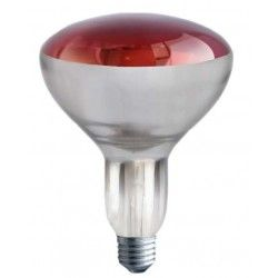 Industri Rød E27 250W infrarød glødetrådpære - Rød varmepære, R125