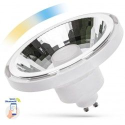 G53 AR111 LED 10W Hvid Smart Home LED spot - Virker med Google Home, Alexa og smartphones, GU10 AR111