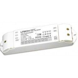Elmateriel Ltech 30W dæmpbar driver til LED panel - Triac + push-dim, flicker free, passer til 6W+12W små paneler og 29W store paneler