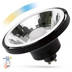 G53 AR111 LED 10W Sort Smart Home LED spot - Virker med Google Home, Alexa og smartphones, GU10 AR111