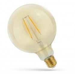 E27 LED 5W LED globepære - Kultråd, rav farvet glas, ekstra varm, E27