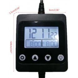 Tilbehør til vækstlys og hydroponi LED timer med DC stik - Til enkeltfarvet LED, 12/24V, maks. 150W