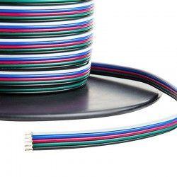 12V RGB 12-24V RGB+W kabel - 5 x 0,5 mm², metervare, min. 5 meter