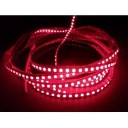12V Rød 670 nm 4,8W/m LED strip - 5m, IP20, 60 LED pr. meter
