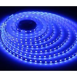 12V Blå 450 nm 4,8W/m LED strip - 5m, IP20, 60 LED pr. meter