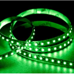 12V Grøn 525 nm 4,8W/m LED strip - 5m, IP20, 60 LED pr. meter