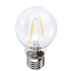 E27 LED Restsalg: 2W LED kronepære - Kultråd, E27, A60