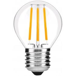 E27 LED 4W LED kronepære - Kultråd, G45, klart glas, E27