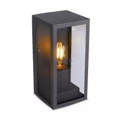 Havelamper V-Tac sort væglampe - IP44 udendørs, E27 fatning, uden lyskilde