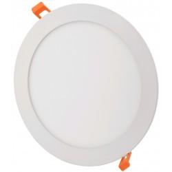 LED indbygningspaneler 6W LED indbygningspanel - Hul: Ø11 cm, Mål: Ø12 cm, 230V