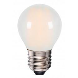 E27 LED 4W LED pære - 3-trin dæmpbar, on/off dæmpbar, matteret glas, 230V, E27