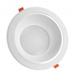 Indbygningsspots 25W LED spotlight - Hul: Ø21 cm, Mål: Ø23 cm, 230V, IP44 vådrum & udhæng