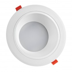 Indbygningsspots 20W LED spotlight - Hul: Ø17 cm, Mål: Ø19 cm, 230V, IP44 vådrum & udhæng