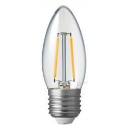 E27 LED Restsalg: 2W LED kertepære - Kultråd, E27