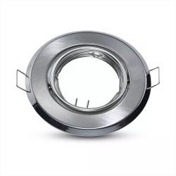 Indendørs indbygningsspots Downlight kit uden lyskilde - Hul: Ø7 cm, Mål: Ø9,3 cm, Børstet stål, vælg MR16 eller GU10 fatning