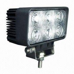 Projektør 18W LED arbejdslampe - Bil, lastbil, traktor, trailer, udrykningskøretøjer, kold hvid, 12V / 24V