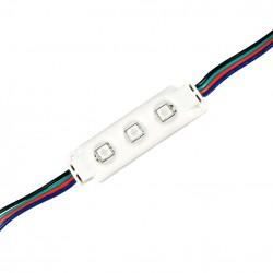 12V IP68 RGB Vandtæt RGB LED modul - 0,72W, IP67, Perfekt til skilte og special løsninger