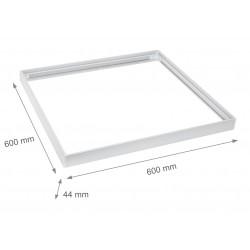 LED Paneler Ramme til 60x60 LED panel - Samles hurtigt, Plast hjørner, Uden synlige skruer