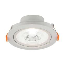 LED indbygningspaneler V-Tac 7W LED spotlight - Hul: Ø7,5 cm, Mål: Ø9,1 cm, 4,6 cm høj, 230V