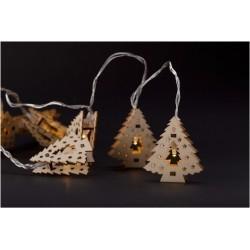 Julelys 165 cm varm hvid træ juletræ julelyskæde - 10 LED, indendørs, batteri
