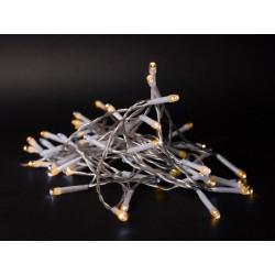 Julelys 1 m. varm hvid LED julelyskæde - 10 LED, indendørs, batteri