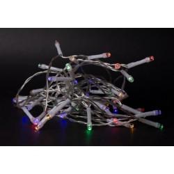 Julelys 1 m. multicolor LED julelyskæde - 10 LED, indendørs, batteri