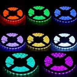 12V IP68 RGB 14W/m RGB vandtæt LED strip - 5m, IP68, 60 LED pr. meter