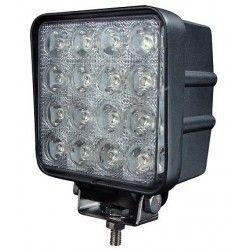 Projektør 48W LED arbejdslampe - Bil, lastbil, traktor, trailer, udrykningskøretøjer, kold hvid, 12V / 24V