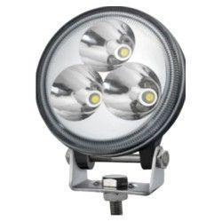 Projektør 9W LED arbejdslampe - Bil, lastbil, traktor, trailer, udrykningskøretøjer, kold hvid, 12V / 24V