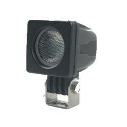 Projektør 10W LED arbejdslampe - Bil, lastbil, traktor, trailer, udrykningskøretøjer, kold hvid, 12V / 24V